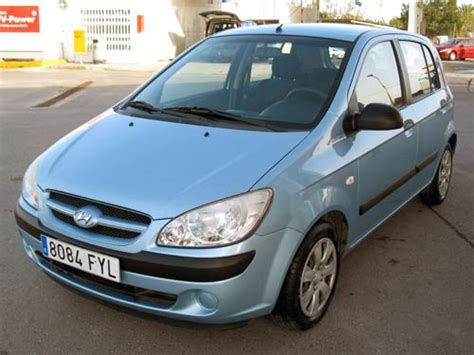 blue hyundai getz hyundai getz used car costa blanca spain second