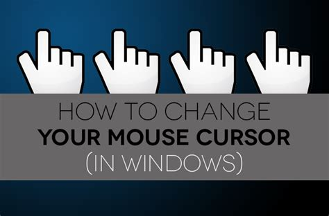 how to a pointer how to change your mouse pointer in windows digital trends