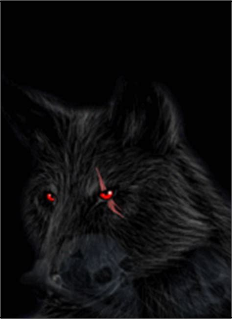 Black Wolf With Red Eyes Wallpaper Wallpapers Browse