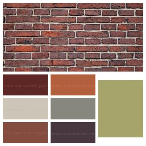 brick color interior paint colors that go with brick house