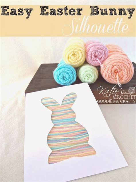 easy easter crafts easy easter craft for toddlers bunny silhouette yarn