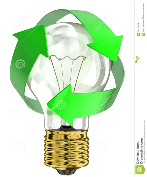 recycle light bulb royalty free stock photos image 34539878