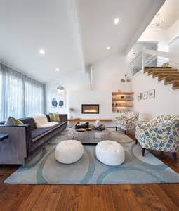 innovative leather pouf in living room contemporary with
