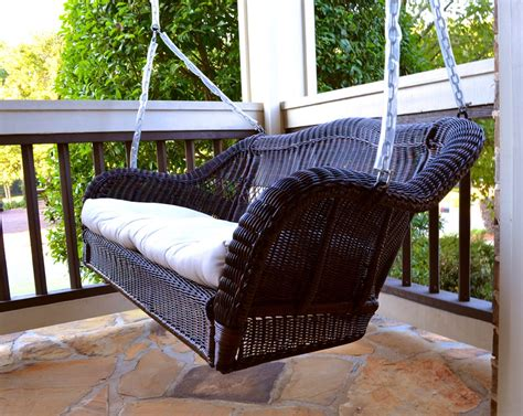 sunbrella woven patio swing tortuga outdoor portside wicker swing wicker swings