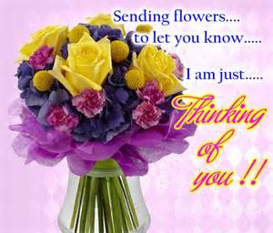 remembering you with flowers free thinking of you