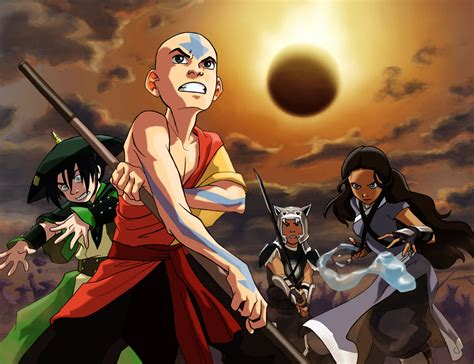 wallpaper avatar cartoon ready for battle full hd wallpaper and background image