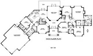 Large Ranch Floor Plans Craftsman Luxury Home With 4 Bedrms 7372 Sq Ft Plan