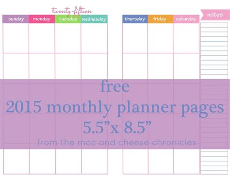 free printable planner pages 5 5 x 8 5 free printable planner 5 5 x 8 5 calendars free calendar