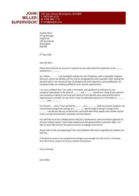 highly popular cover letter design that uses a pages white