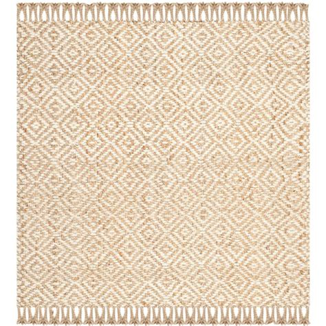 8 Foot Square Area Rugs Safavieh Fiber Beige Ivory 8 Ft X 8 Ft Square Area Rug Nf450a 8sq The Home Depot