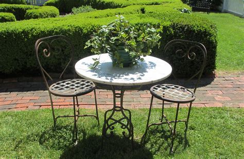 Marble Top Patio Table Marble Top Patio Table And 2 Chairs Bertolinico