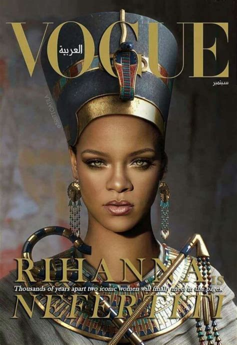 queen nefertiti tattoo rihanna not everyone is happy with rihanna s vogue arabia cover