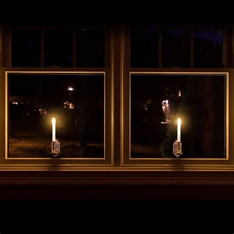 2pcs Solar Powered Led Candle Light With Sticker Indoor Window Lights Indoor