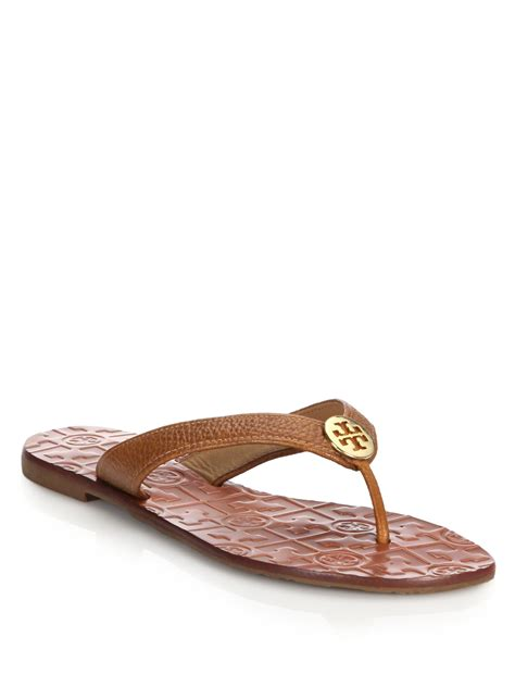 burch brown sandals burch thora tumbled leather sandals in brown lyst