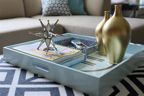 decorating an ottoman with tray styling tips for decorating with trays