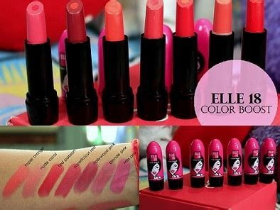 7 Elle 18 Color Boost Lipsticks: Reviews, Shades, Swatches