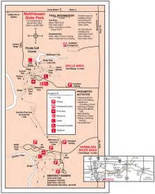 Starved Rock State Park Map by Matthiessen State Park Hiking Trail Illinois Visions