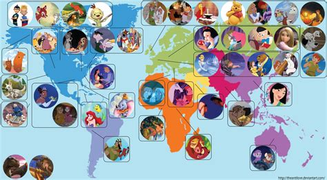 map of usa showing disney world this world map shows where every disney is set