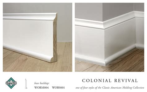 Colonial Trim windsorone colonial revival base molding traditional
