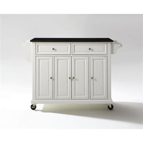 kitchen island cart with granite top crosley furniture solid black granite top kitchen cart in