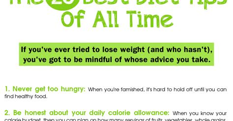 20 Best Dieting Tips by 20 Best Diet Tips Losing Weight For All
