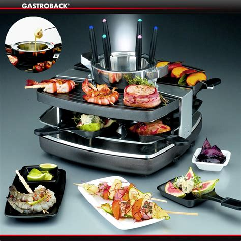 Raclette Grill Mit Fondue by Gastroback Design Raclette Fondue Set Cookfunky