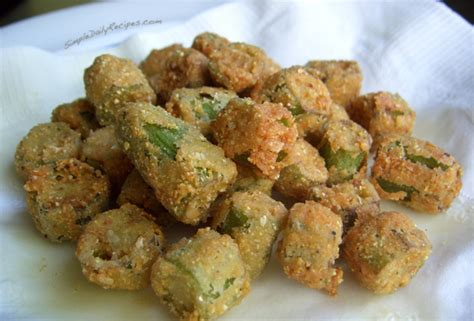 crispy fried okra recipe simple daily recipes