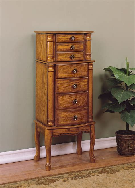 oak jewelry armoires powell woodland oak jewelry armoire by oj commerce 604 315 249 00