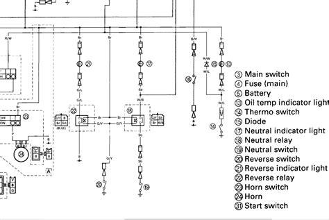 99 yamaha big 350 wiring diagram 99 get free image