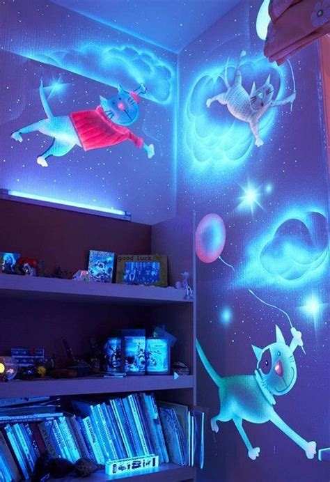 glow in the dark paint for bedroom walls how to diy glow in the dark paint wall murals icreativeideas com