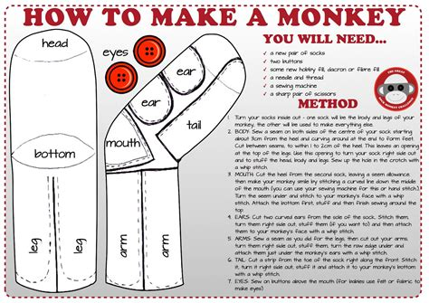 sock animals how to make sock monkey pattern on www pages the
