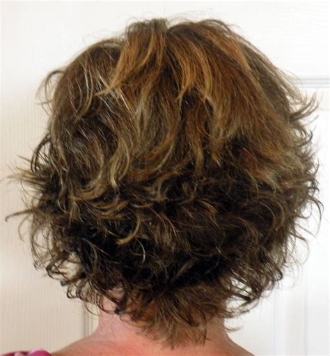 back view of short shag hairstyles shag haircut back view curly short shag haircut