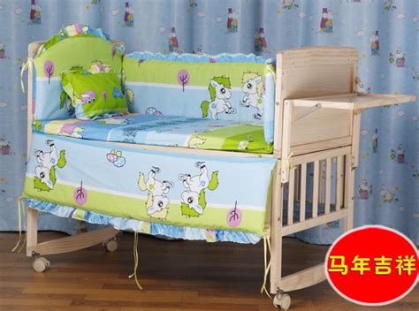 cheap baby crib set discount 5pcs newborn boys crib cheap baby crib cot set high quality 110 65 100 60cm