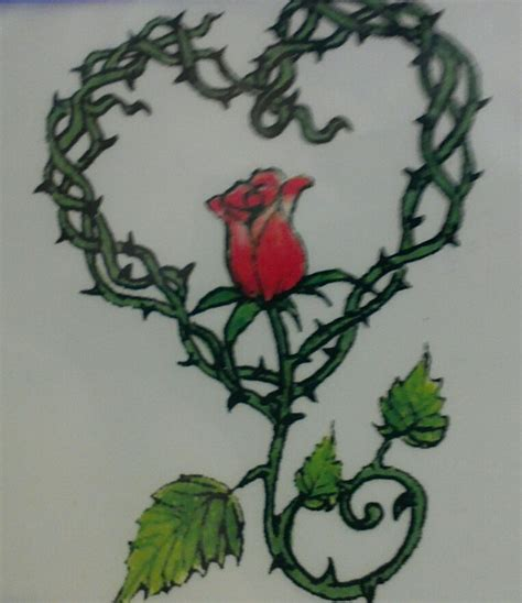 rose and thorn vine tattoos 18 best roses images on tattoos