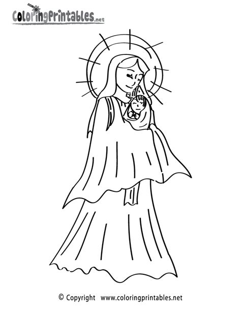 Free Printable Mother Mary Coloring Page Our Of Guadalupe Coloring Page