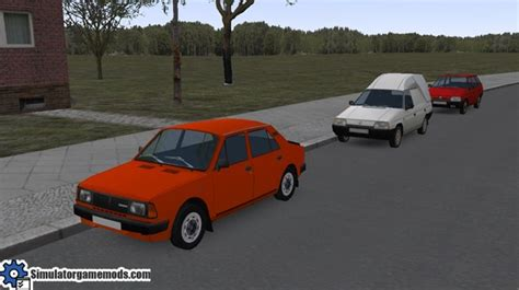 2 In 1 Felicia 120 omsi 2 skoda traffic car package simulator mods
