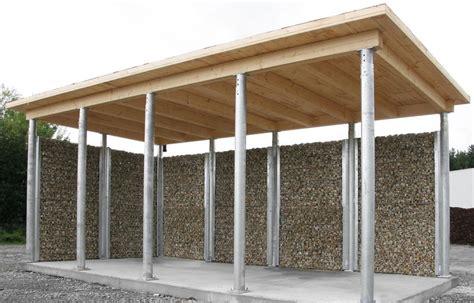 gabionen carport gabionen gnstig zaungabione arcadia montage durch