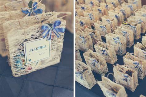 Escort Cards/Goody bags. Filipino Wedding. Abaca fibers