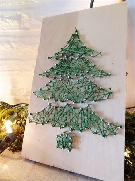 string art christmas trees and diy string art on pinterest