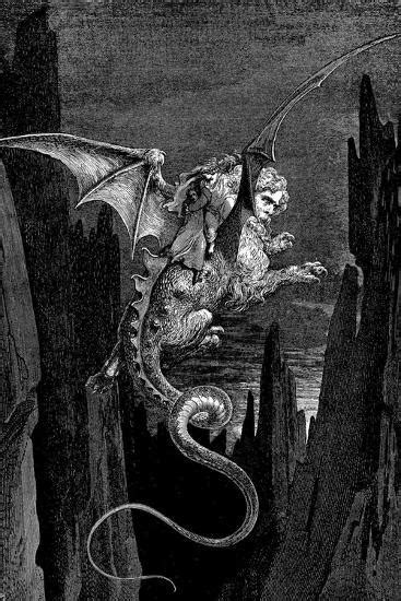 Gustave Dore (Dante's Divine Comedy, Inferno - Flying