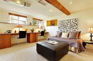 Inexpensive Bedroom Decorating Ideas basement home office design and decorating tips