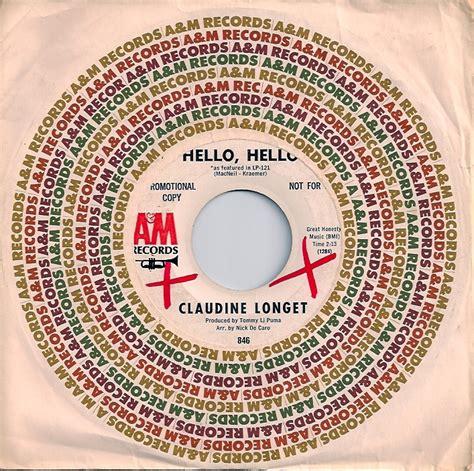claudine longet hello hello claudine longet 171 so many records so little time