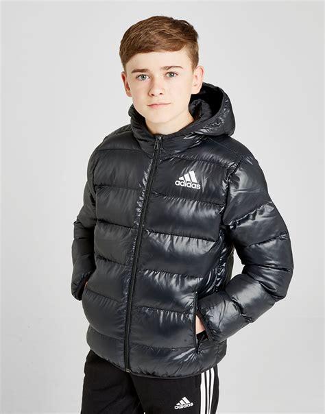 Jaket Adidas Sport adidas hooded bomber jacket junior jd sports