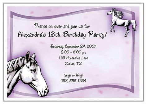 horse birthday party printable templates pony party theme horse birthday party invitations horse pony kids birthday