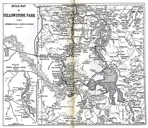 map of united states showing yellowstone national park 1up travel historical maps of united states yellowstone
