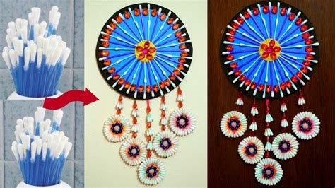 best out of waste home decor home decorating idea how to reuse waste cotton buds at
