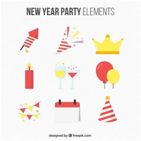 new year five elements golden wheat crown logos vector free
