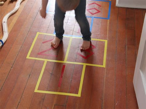 diy indoor games diy indoor hopscotch game
