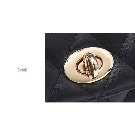 tas pinggang wanita luxury waist bag 1534 black