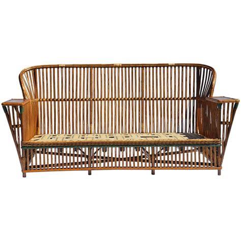 vintage rattan sofa antique stick wicker sofa at 1stdibs